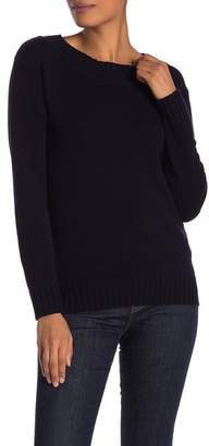 Vince Off Shoulder Long Sleeve Ribbed Sweater