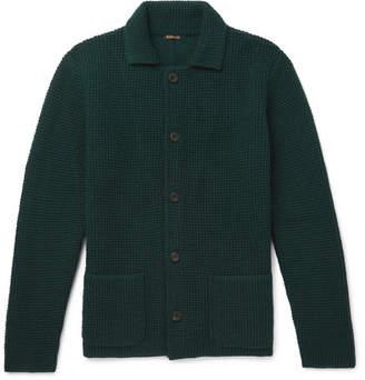 dd573173aea6 Rubinacci - Waffle-Knit Cashmere Cardigan - Men - Green