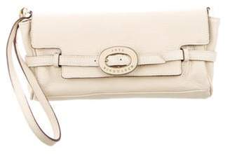 Anya Hindmarch Leather Wristlet Clutch gold Leather Wristlet Clutch