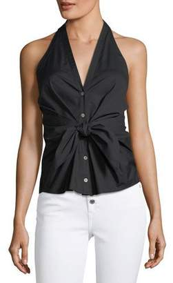Veronica Beard Vea Self-Tie Halter Top