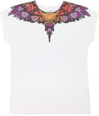 Marcelo Burlon County of Milan Butterfly Print Jersey Long T-Shirt