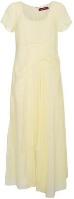 Sies Marjan Silk Scoop Neck Dress