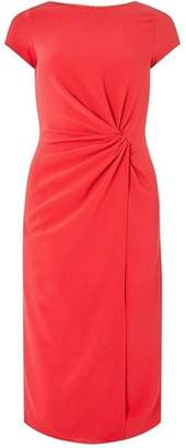Dorothy Perkins Womens **Lily & Franc Coral Manipulated Wrap Dress