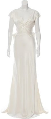 Nicole Miller Cassandra Silk Wedding Gown w/ Tags $325 thestylecure.com