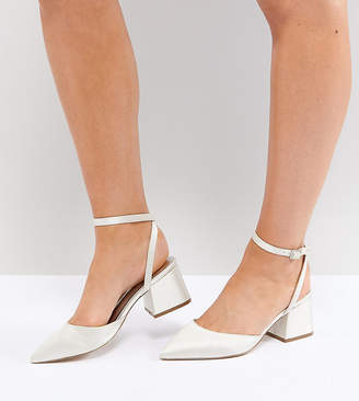 Asos Scarlette Bridal Wide Fit Mid Heels