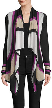 INC International Concepts Colourblock Open Front Cardigan