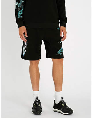 Givenchy Dragon-print cotton-jersey shorts