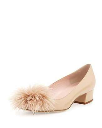 Kate Spade Melinda Patent Feather Pump, Powder