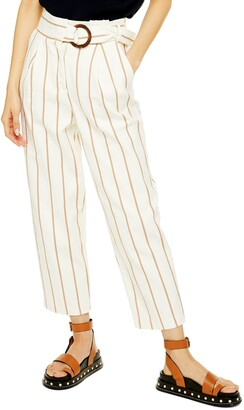 Topshop Stripe Peg Trousers