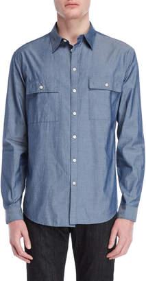 DKNY Indigo Flap Pocket Shirt