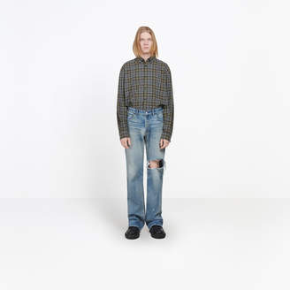 Balenciaga Bootcut jeans with hand made ripped knee