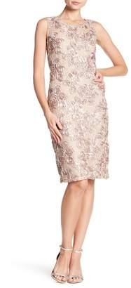 Marina Floral Applique Sleeveless Dress