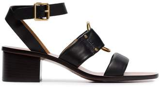 Chloé black 40 strappy leather sandals