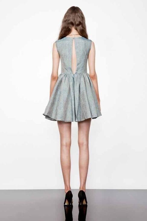 Keepsake Jane Jacquard Dress in Teal