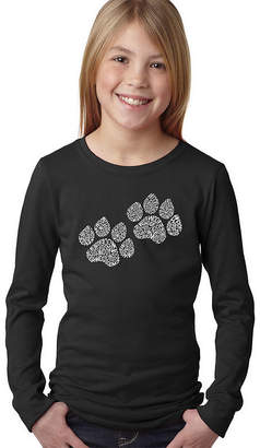 LOS ANGELES POP ART Los Angeles Pop Art Woof Paw Prints Graphic T-Shirt Girls