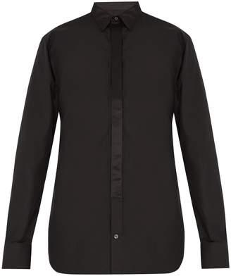 Alexander McQueen Contrast-trim button-cuff cotton shirt