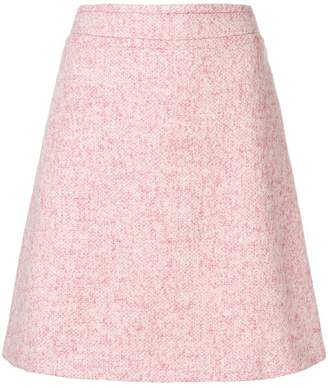 Blumarine tweed a-line skirt