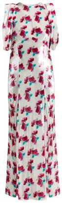 ATTICO The Floral Velvet Dress - Womens - White Multi
