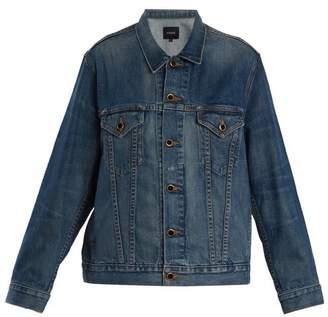 Khaite - Cate Oversized Denim Jacket - Womens - Mid Blue