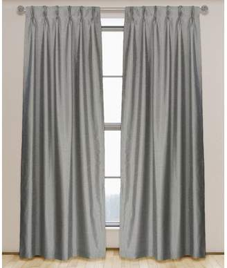 L.J Home Zoi Solid Pinch Pleat Panel Pair