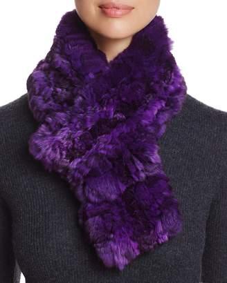 Maximilian Furs Chinchilla Fur Knit Scarf