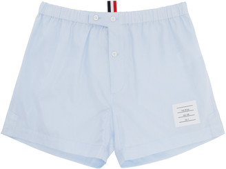 Thom Browne Blue Poplin Boxers $125 thestylecure.com