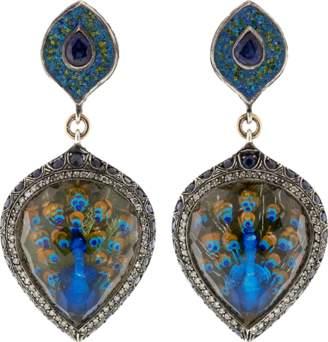 Sevan Biçakci Turquoise Mosaic Peacock Earrings