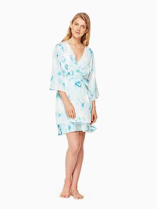 Kate Spade Floral charmeuse robe