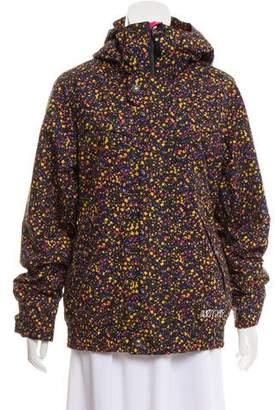 Burton Printed Hooded Coat