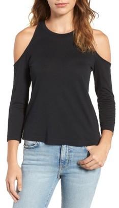Women's Splendid Cold Shoulder Jersey Tee $78 thestylecure.com