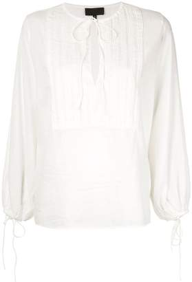 Nili Lotan pleated bib blouse