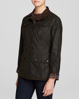 Barbour Waxed Cotton Utility Jacket $399 thestylecure.com