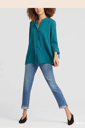 Eileen Fisher Silk Tie-Sleeve Shirt