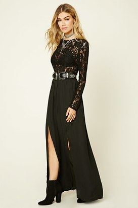 FOREVER 21+ Semi-Sheer Lace Maxi Dress $27.90 thestylecure.com