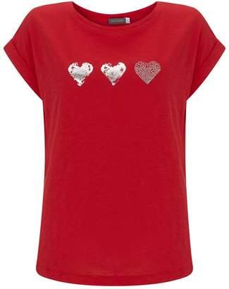 Mint Velvet Scarlet Heart Trio Tee