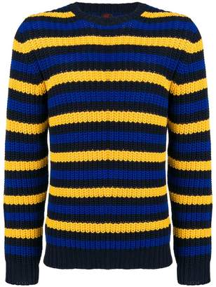 Piombo Mp Massimo striped chunky sweater