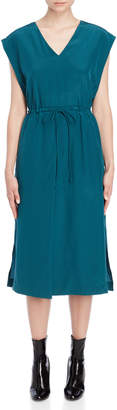 Jil Sander V-Neck Drawstring Midi Dress