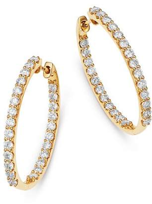 Bloomingdale's Diamond Inside Out Hoop Earrings in 14K Yellow Gold