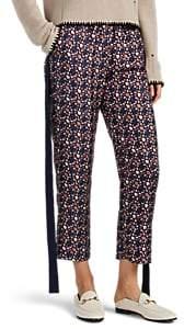 Raquel Allegra Women's Abstract-Paisley Silk Trousers