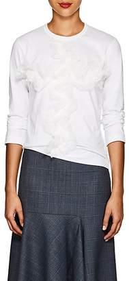 Comme des Garcons Women's Lace-Appliquéd Cotton T-Shirt