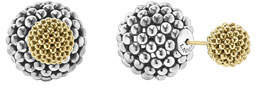 Lagos Sterling Silver & 18K Gold Front-Back Ball Earrings
