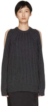 McQ Grey Cut-Out Sweater