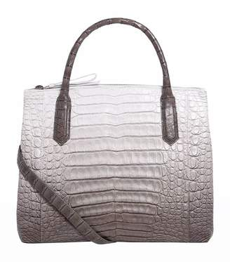 4e15ce9cc7fe Nancy Gonzalez Crocodile Nix Double Zip Tote Bag