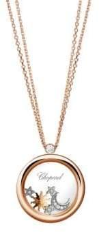 Chopard 18K Rose Gold& Happy Diamonds Pendant Necklace