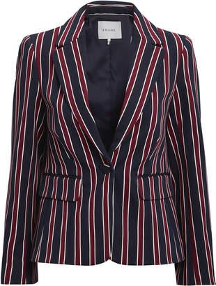 Frame Shrunken Striped Blazer