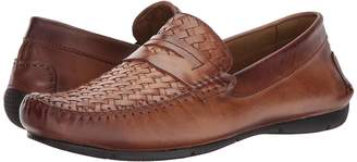 Matteo Massimo Woven Vamp Penny Men's Slip-on Dress Shoes