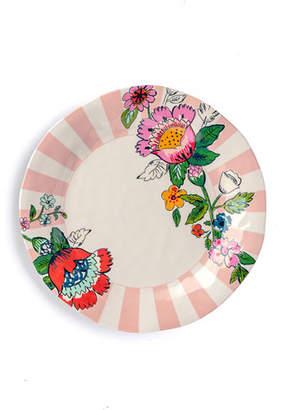 Vera Bradley Coral Floral Dinner Plate