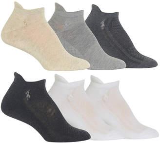 Polo Ralph Lauren Women 6-Pk. Mixed-Mesh Low-Cut Tab Socks