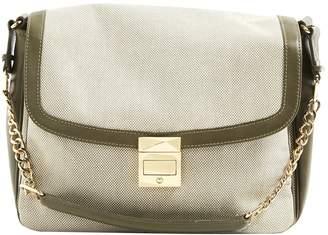 Khaki Cloth Clutch bag