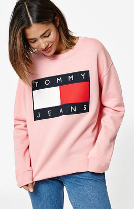 Tommy Hilfiger 90s Pullover Sweatshirt $129 thestylecure.com